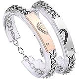 Best Jovivi Friend Wish Bracelets - Jovivi 2pc CZ Stainless Steel with wish love Review