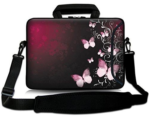 Sidorenko 15-15,6 Zoll Laptoptasche   Laptop Umhängetasche: Stilvolle Computer - Notebook-Schultertasche aus Neopren Schmutz- und Wasserabweisend   Notebook-Tasche mit Außentasche für Zubehör