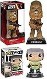 Funko POP! Star Wars: Luke Skywalker (Endor) + Wacky Wobbler Chewbacca – Stylized Vinyl Bobble-Head Figure Set NEW