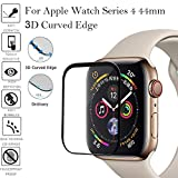 Apple Watch Series 4 44 mm Displayschutz,Colorful Premium Oberflächenhärte Full Coverage Metallrahmen gehärtetem Glas Displayschutzfolie für Apple Watch Series 4 44mm