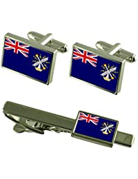 Royal Engineers militar Clip de corbata gemelos Bandera de Inglaterra Box Set de regalo