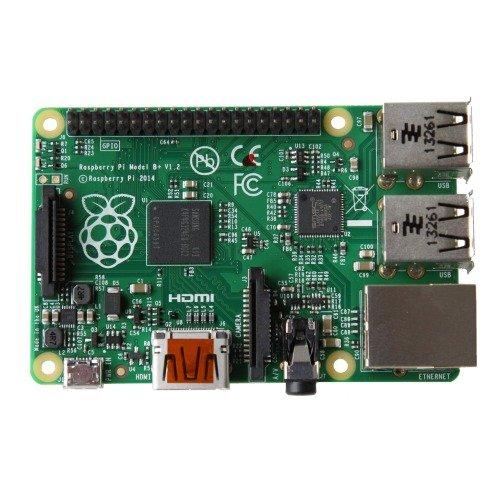 Raspberry-Pi-Model-B-Mainboard-GPIO-polig-MicroSD-Speicherkartenslot-HDMI-4x-USB-20