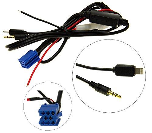 Adapter-Universe® KFZ Auto Radio AUX Adapter Kabel Mini ISO 8pol iPhone 6 Stecker für VW Becker