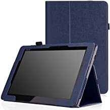 MoKo ASUS Transformer Book T100 Chi Funda - Slim Soporte Funda para Transformer Book T100 Chi 10.1 Pulgadas (2015 Verción) Windows Tableta, AZUL Oscuro
