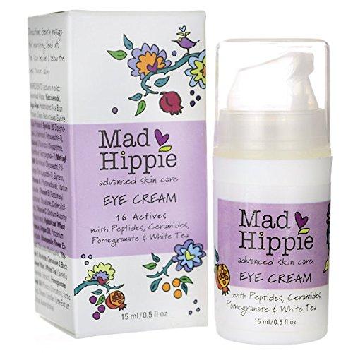 Crème pour les yeux, 16 Actives, 0,5 fl oz (15 ml) - Mad Hippie Soins de la peau