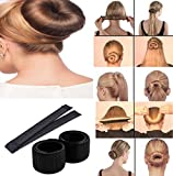 DALUCI Hair Styling Donut Bun Maker Former Foam French Twist Magic Tool For Women & Girls (Color:Black)