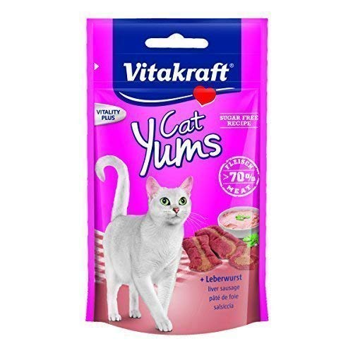 Vitakraft Katzensnack Cat Yums plus Leberwurst - 9 x 40g -