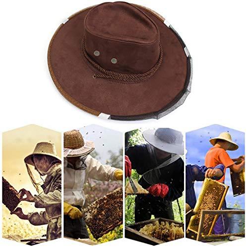 DQANIU ❤️Bienenhut❤️ Anti-Bienen-Gesichtsmaskenhut Imkerei-Schutzkappe Imker-Fliegen-Insekten-Netz-Cowboy