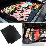 grillaholics Grill Mat–Set de 2NON STICK barbacoa Grill alfombrillas–Heavy Duty, reutilizable, y fácil de limpiar–Extensión de garantía