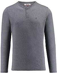 Tommy Jeans Hilfiger Denim Herren Shirt Basic Henley Langarm Marine (52) L 8ee44b050f