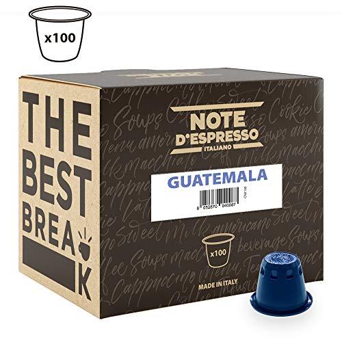 Note D'Espresso - Cápsulas de café de Guatemala compatibles con cafeteras Nespresso, 5,6g (caja de 100 unidades)