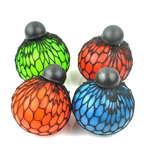 Sungpunet Gitter Squishy Ball-Super-Gummi-Vents Grape Stress Ball Squeeze Stressbälle für Kinder und Erwachsene Lindern. Stress Squishy Spielzeug Autismus, ADHS zufällige Farben