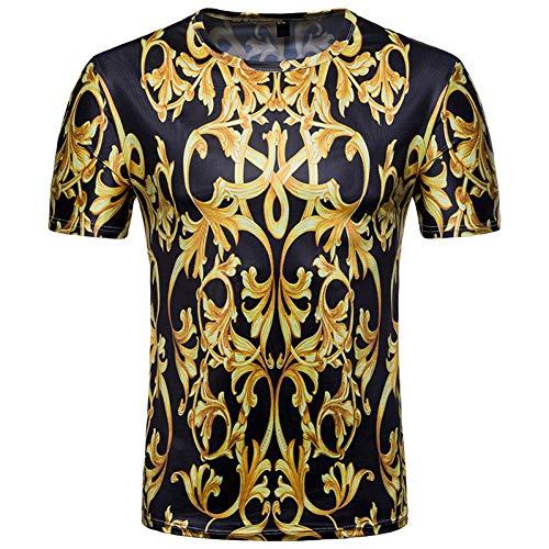 Texture Xjwdtx Shirt Pour Courtes Dorée Manches À Hommes Avec Texturée 3d T vmPyN8Own0