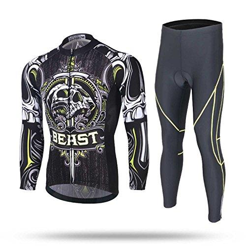 Männer Radsportbekleidung Anzüge Fahrrad Jersey Sportbekleidung sets Atmungsaktiv Schnell Trocknend Leichte Reitkleidung für Wandern Fitness Gym Übung Ausbildung (2XL Lange anzug)