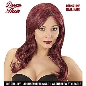 WIDMANN 06438peluca Lindsay Color Rojo en Drea mhair Calidad, mujer, One size