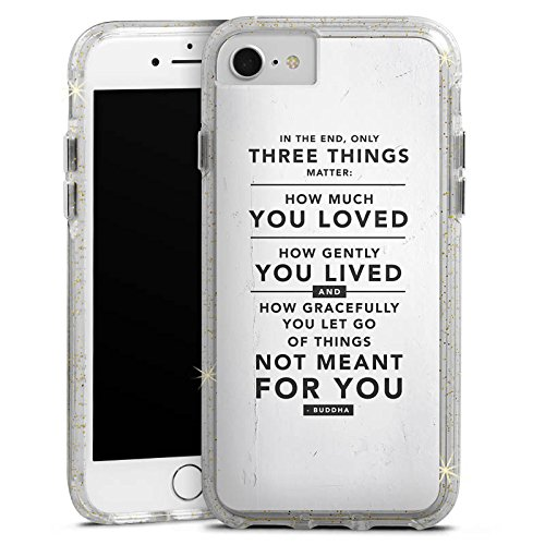 Apple iPhone 6s Bumper Hülle Bumper Case Glitzer Hülle Sayings Sprüche Phrases Bumper Case Glitzer gold