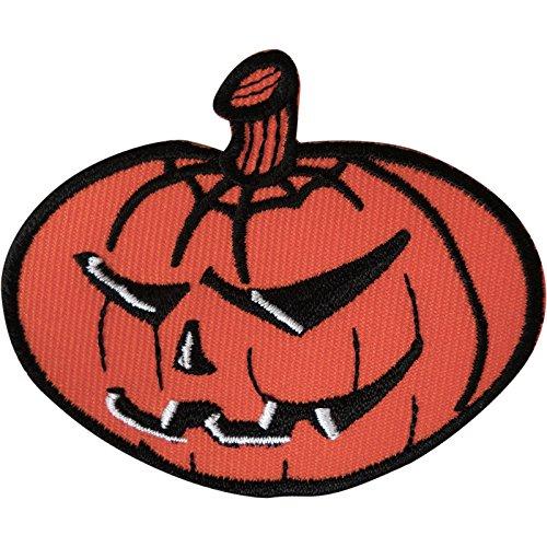 Kürbis Eisen auf Patch gesticktes Badge Sew Stickerei Applikation Halloween Crafts