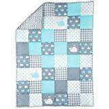 Rajrang-Baby Blanket Plush Blue Soft Cotton For Newborn Boys And Girls Babies Quilt 96 X 127 Cm Baby Quilt