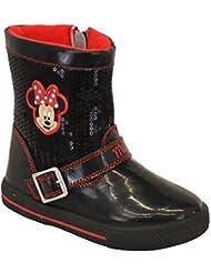 Filles Minnie Mouse Bottes De Neige Enfants Bottes En Caoutchouc Disney Mi-mollet Chaussures
