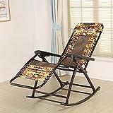 Yisaesa Einfach und kreativ Sommerstuhl, Schaukelstuhl, Sessel, Siesta Stuhl, Klappstuhl, Stuhl für Schwangere (Farbe: B) (Farbe : C, Größe : -)