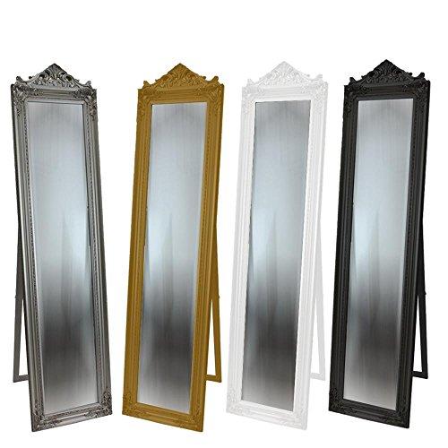Standspiegel Spiegel Silber Ankleidespiegel Barock Antik 180x44cm Flurspiegel