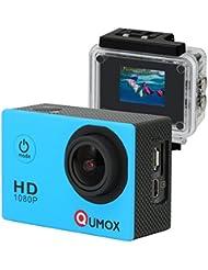 QUMOX SJ4000 - Cámara de deportes para casco Impermeable (12 MP, 1080p, HDMI), color azul