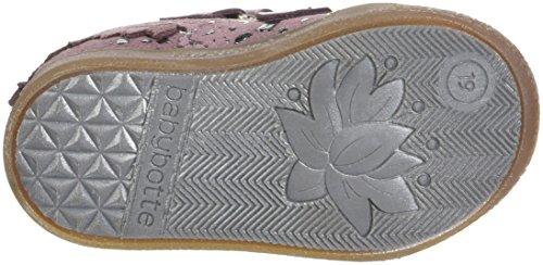babybotte - Azteke, Pantofole a Stivaletto Bambina Rose (Rose Splash)