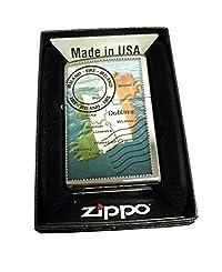 Zippo Custom Lighter - Irish Postage Stamp - Regular High Polished Chrome