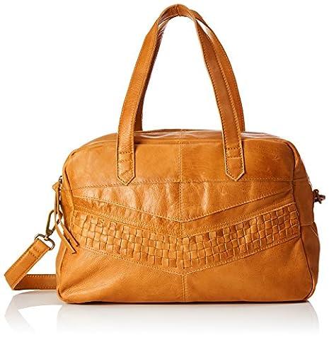PIECES Pcjimini Leather Bag, Sacs menotte femme, Braun (Cognac), 17x32x53 cm (B x H T)