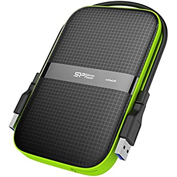 Silicon Power 2TB Rugged Portable External Hard Drive Armor A60 Shockproof U...
