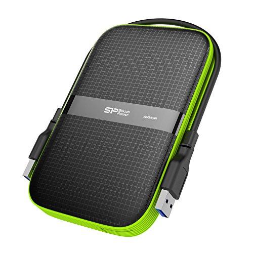 Silicon Power 2TB Robuste Armour A60Relatifs aux Chocs/résistant à l'eau USB 3.06,3cm Disque Dur Externe pour PC, Mac, Xbox One, Xbox 360, PS4, PS4Pro et PS4Fin, Noir USB 3.0 5TB Noir