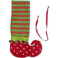 prettygood7 - Bolsa de Regalo para Zapatos, diseño de Lunares, Color Rojo y Verde