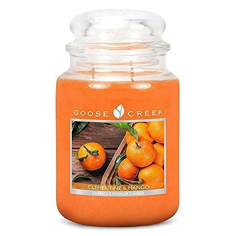 Goose Creek Clementine & Mango Large Jar Scented Candle 24oz