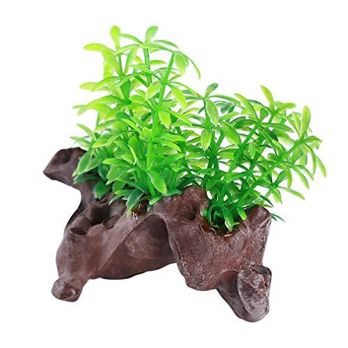 Hengxing-Plastik-Aquarium-Pflanzen-realistische Wasserpflanze-Aquarien-Landschaftsdekoration, kleines Apfelblatt des Holzes - Pflanzen Realistische Aquarium