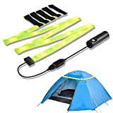 YOUKOYI Camping Strip Lights LED Strip for Tent Flexible LED Light Strip for Tent, Camping, Hiking, Romantic Atmosphere and Emergency Lighting 3 Lighting Modes(Static, Strobe, Flash), Rechargeable Battery