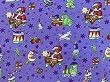 Stechpalmen-Weihnachtsmann mit Weihnachtsbäumen und