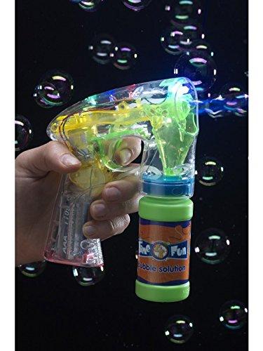 Seifenblasenpistole Leuchtet Enthält Bubble Pot mit Seifenwasser und Batterien, One Size