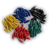 Pinzas de cocodrilo para eléctrico Prueba Rojo y Negro Pequeño (Pack de 100)