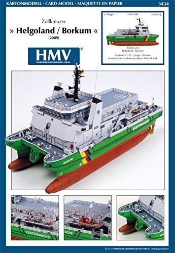 HMV - Hamburger Modellbaubogen Verlag 3434cardmodel Deutscher Customs Cruiser Helgoland/Borkum