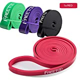 FREETOO Resistance Bands Workout Rubber Band Heavy Elastic Exercises Pull up Bands for Men Woman (Red)