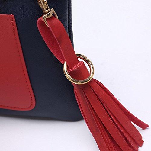 Faysting EU donna fashion borsa a tracolla donna borsa a spalla vari colori scelgliere hit colore rettangolo pelle stile buon regalo san valentino C