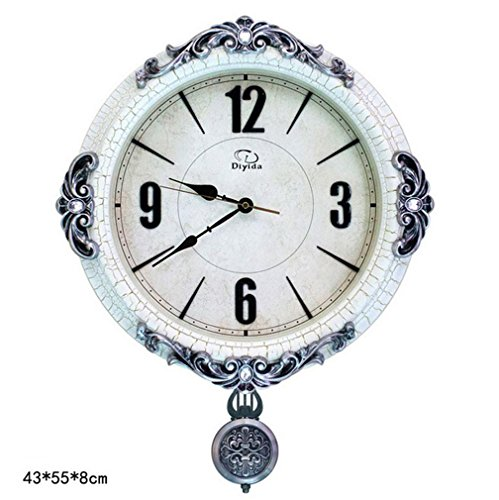 GAOHL ABS Metal Quartz murale horloge r¨¦tro salon Table europ¨¦en muet Swing , 2