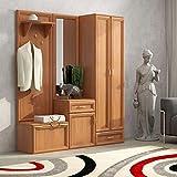 Toskana wandpaneel garderobe paneel wandgarderobe for Kompaktgarderobe buche