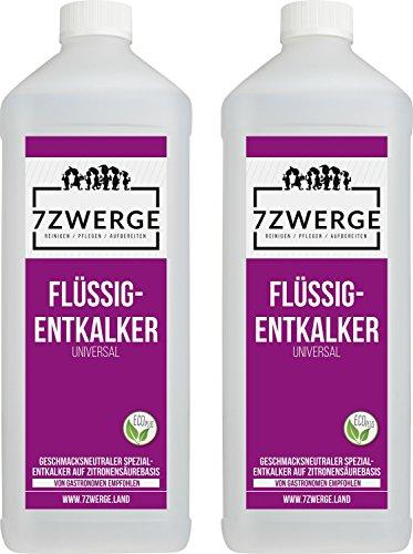 7Zwerge I 2 x 1000 ml Universal Entkalker für Kaffeevollautomaten I Kaffeevollautomat I...