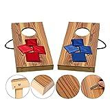 Massivholz Cornhole Board Set, Wurf spiele, Kinder Spielzeug, mit 8 Bean Bags, 30CM*60CM