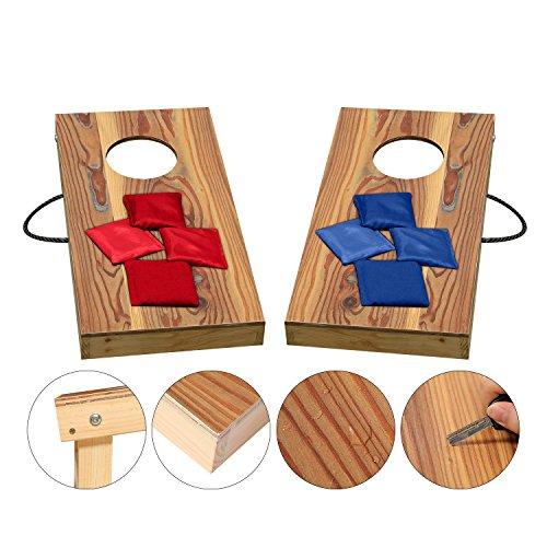 Kinder Cornhole Spiel (Massivholz Cornhole Board Set, Wurf spiele, Kinder Spielzeug, mit 8 Bean Bags, 30CM*60CM)