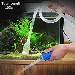 AST Works New Aquarium Gravel Battery Fish Tank Vacuum Syphon Cleaner Pump Water FQ