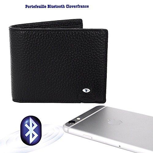 Portefeuille connecté I-Wallet™ Cuir / Retrouvez votre portefeuille grâce à votre smartphone ou faite sonnez votre téléphone avec votre portefeuille / compatible IPhone - Smartphones/connexion Bluetoo...