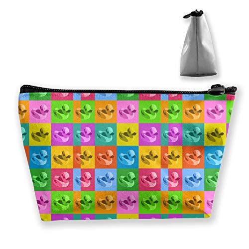 (Portable Shell Makeup Bag Clutch Colorful Duck Print Travel Storage Bag Phone Purse)