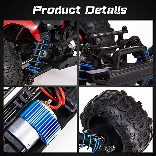 RC Auto kaufen Truggy Bild 2: VASCARS WJL00038 Maßstab 1:18 Flexibles 4WD RC Auto, Ready-to-Run Racing Buggy für Kinder & Erwachsene, 2,4 GHz Funkgesteuertes Fahrzeug mit 45 km/h Hochgeschwindigkeit, Rot*